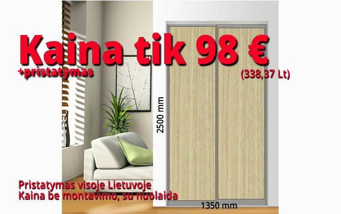 Stumdomos durys kaina 98 € pavyzdys Nr. 1