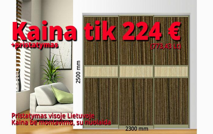 Stumdomos durys kaina 224 € pavyzdys Nr. 4