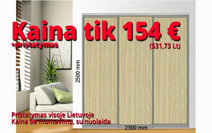 Stumdomos durys kaina 154 € pavyzdys Nr. 5