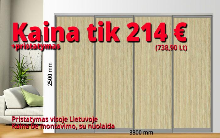 Stumdomos durys kaina 214 € pavyzdys Nr. 7